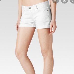 PAIGE/ jimmy jimmy shorts white denim
